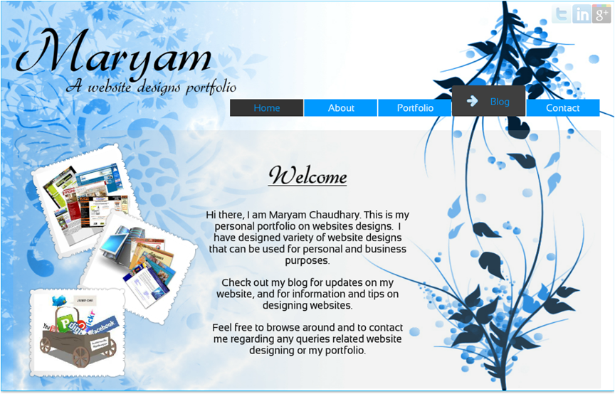 Personal home page designs home design and style for Personal home design